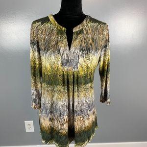 Nic+Zoe long tunic top, size large